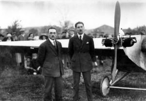 2014 Emile Dewoitine (à droite) et son pilote Georges Bardot MAE