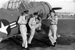 2014 Trois cadets français et un avion américain