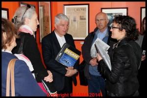 Quelques guides de l'AAMA ont suivi l'avant-première de la visite de l'exposition.