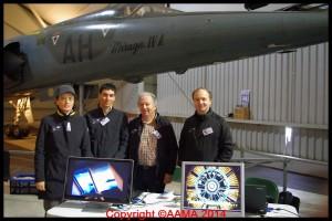L'équipe Concorde en 2012 au Carrefour de l'Air. De gauche à droite, Alexandra Jolivet, Laurent Dupessey, Patrick Sevestre et Philippe Gebarowski.