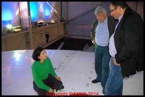 Alexandra avec Jean-Claude Gayssot ministre des transport de 1997 à 2002 qui avait géré l'accident du Concorde en 2000.