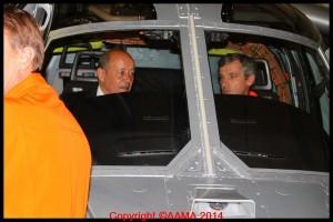 Le ministre aux côtés de Hervé Jammayrac, pilote du X3.