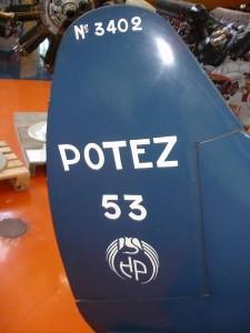 2014 dérive musée porte le numéro de série 3402, l'avion de Détré