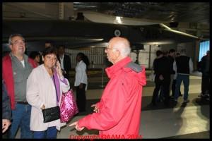 Un de nos bénévole était à l'entrée des Concorde.