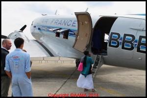 les visiteurs pouvaient entrer dans le DC3.
