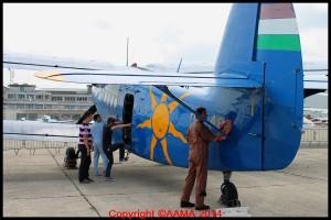 L'Antonov 2 accessible pendant que certains le bichonne.