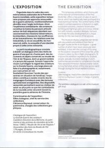Extrait du document de présentation de l'exposition, dont les traductions en anglais ont été réalisées par notre groupe de traducteurs.