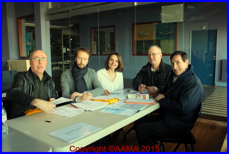 De gauche à droite : Frédéric Buczko ; Grégory Blanot ; Laëtitia Coste ; Pierre Leydier et Alain Genter