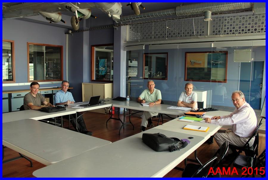 Notre Vice-président Alain, notre Secrétaire Général Alain, Pol invité, Roger notre Trésorier et François notre Président