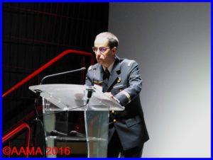 Le capitaine Sylvain Champonnois lors d'une conférence au Carrefour de l'Air 2016
