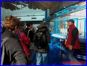Notre guide Pierre pour la visite de l'histoire de l'aérogare et du Bourget