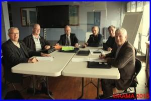 La réunion du Bureau de l'AAMA le 6 octobre