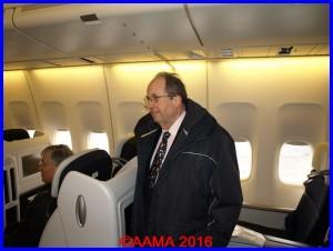 Notre Président François Chouleur dans le 747 d'Air France