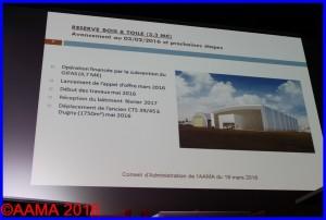 """Vue d'artiste du hangar """"Bois et toile"""" présentée à notre assemblée générale de mars"""