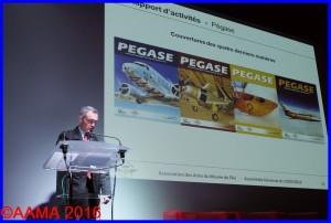 Alain Rolland en tant que rédacteur en chef de Pégase
