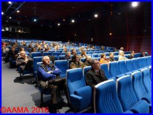 Dans l'auditorium Roland Garros