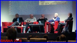 De gauche à droite, Max Armanet, Stephen Grey, Bernard Chabbert , Luc Fournier et Catherine Maunoury