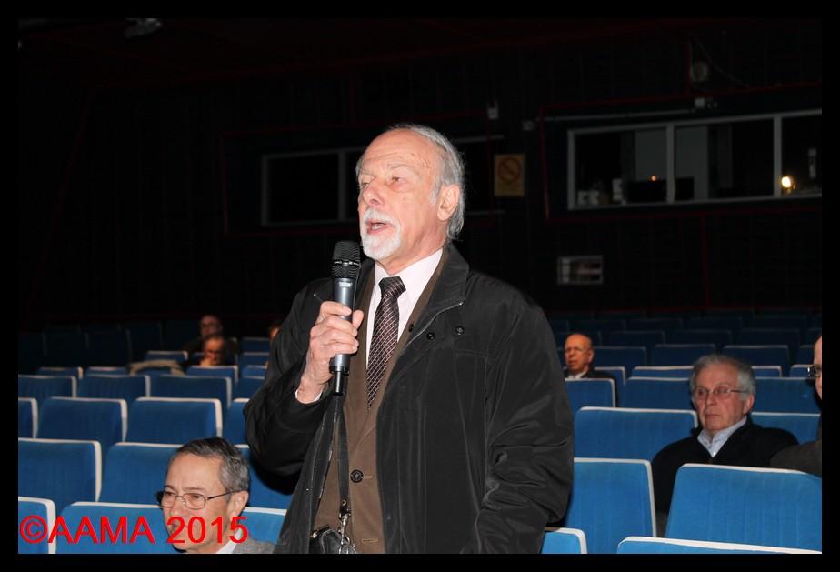 Jacques Lefevre lors de notre assemblée générale 2015. Il s'adressait alors aux représentants du Musée de l'Air