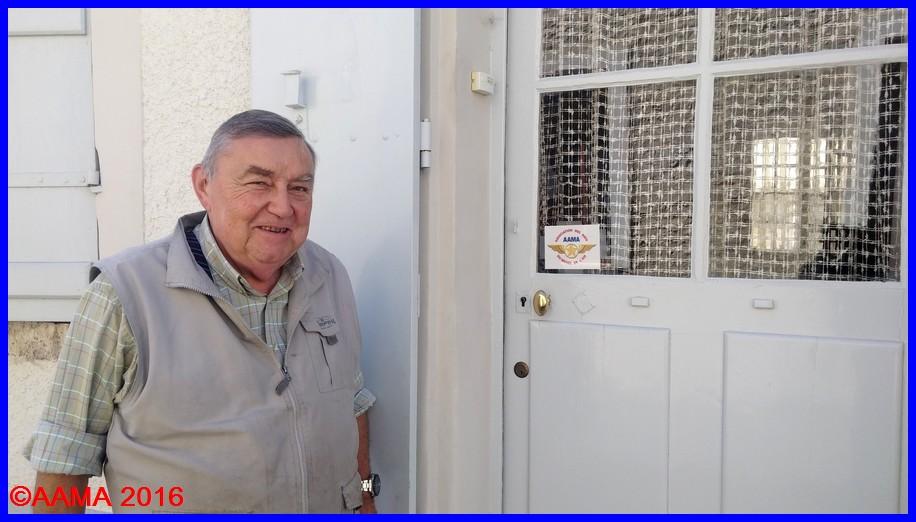 Claude Poireau que l'AAMA remercie pour son don