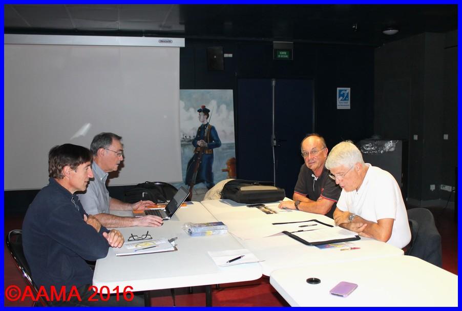 De gauche à droite, Alain Genter vice-président, Alain Rolland secrétaire général, Pierre Gain trésorier adjoint et Jean-Pierre Lopez vice-président