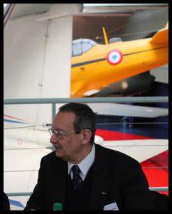 Yves Zacchi à la pause déjeuner lors du Carrefour de l'Air en avril 2014