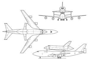 Plan, Boeing 747 SCA, OV-101,Orbiter