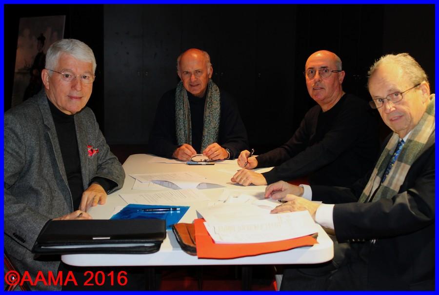 De gauche à droite : Jean-Pierre Lopez, Pierre Brémard, Frédéric Buczko et François Chouleur