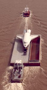 Enterprise, OV-101, barge