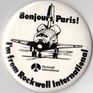 d'Enterprise, Paris Air Show 1983, écussons, patch, badge