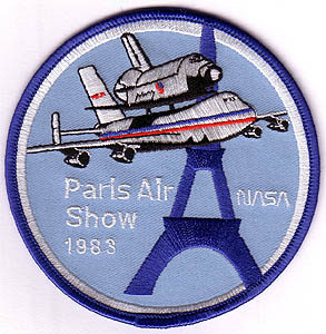 Enterprise, Paris Air Show 1983, écussons, patch, badge