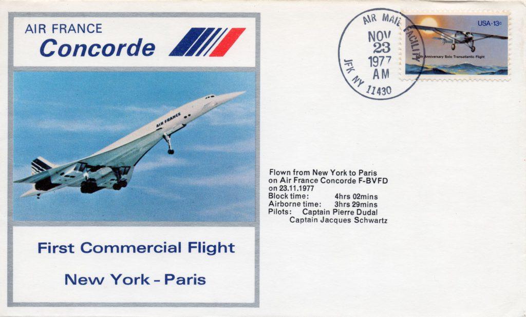 Premier vol New York-Paris, 23 nov 1977