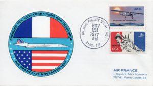 Pli philatélique commémoratif de Concorde, New York-Paris, F-BVFD, Collection Philippe Picherit